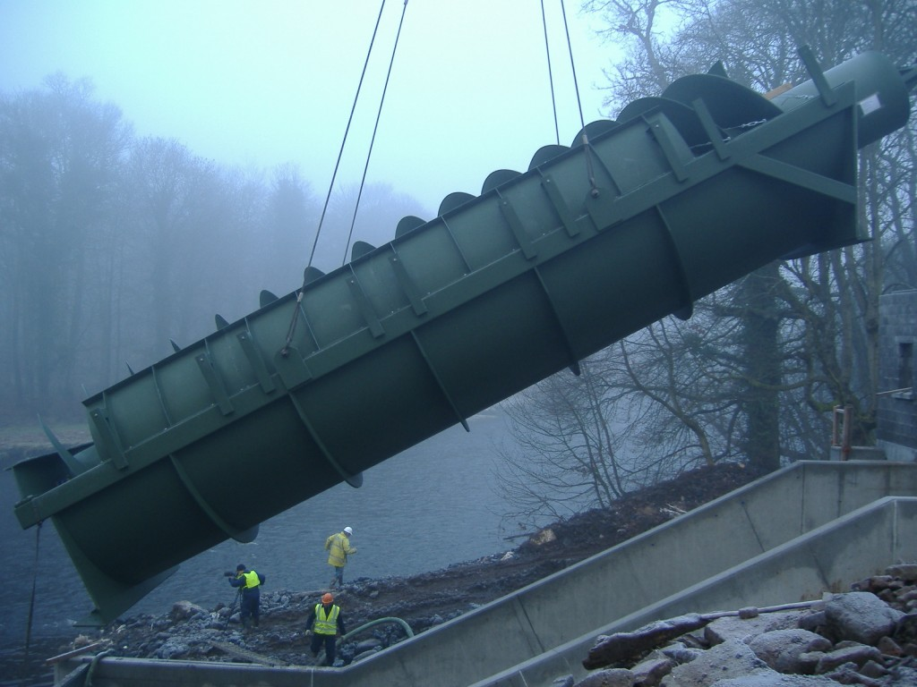 Shanes Castle Hydropower - 1st Archimedean Screw Turbine installed in Northern Ireland