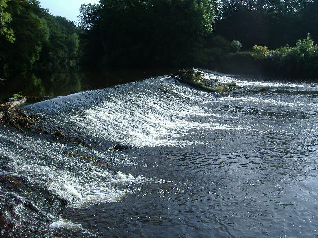 Weir on the river Camowen, Omagh