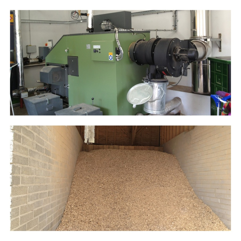 200kW Biomass Boiler fueled by locally sourced wood chip