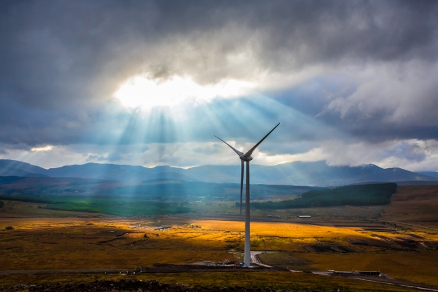 IWEA Global Wind Day Photo Competition Runner Up: Keith Arkins highlights how wind turbines can become immersed in their environment and often complement their surroundings. Location: Cahersiveen, Co. Kerry.
