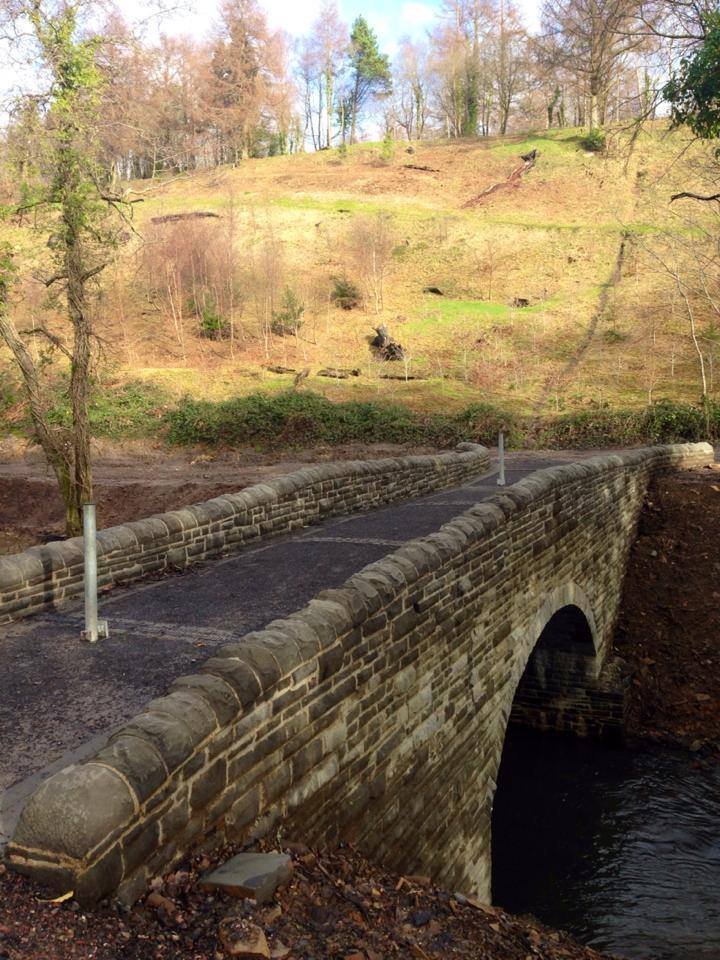 Photo Credit ~ Penllergare Valley Trust ~ The newly built Llewelyn Bridge