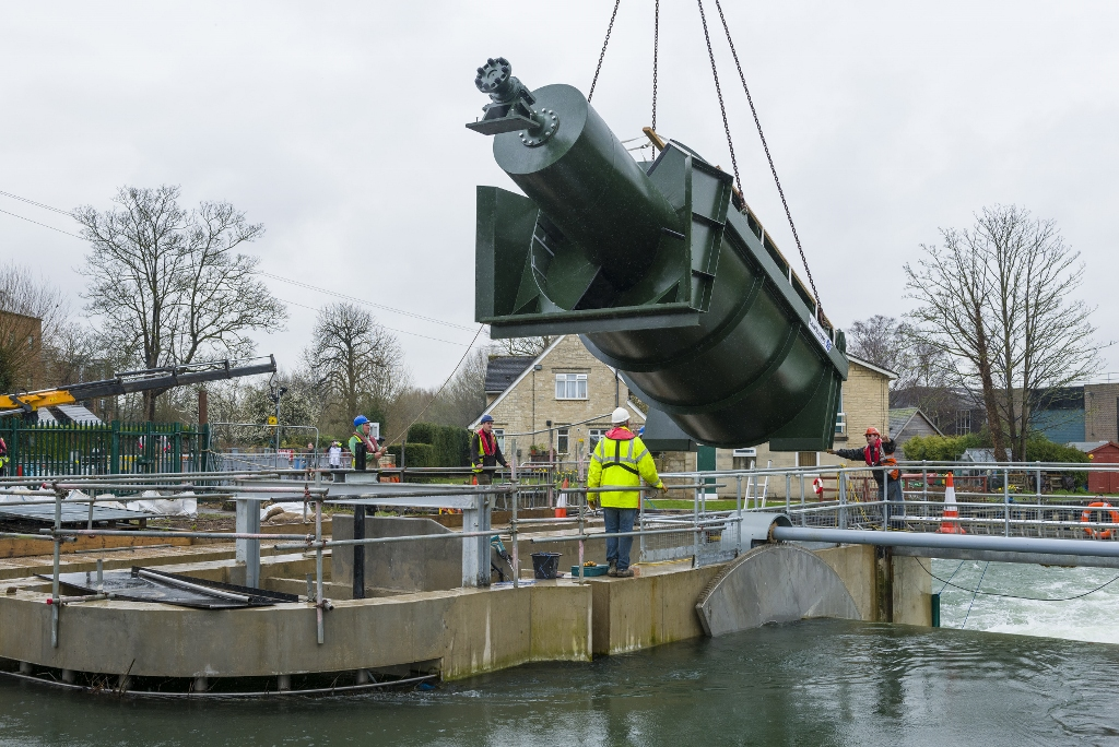 Osney lock hydro installation