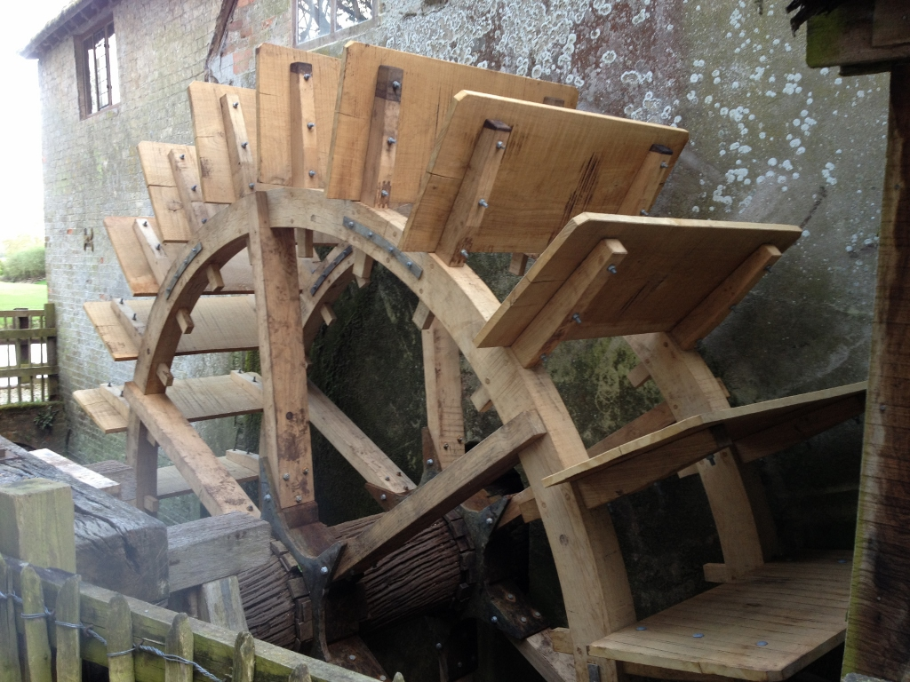 New water wheel at Mapledurham