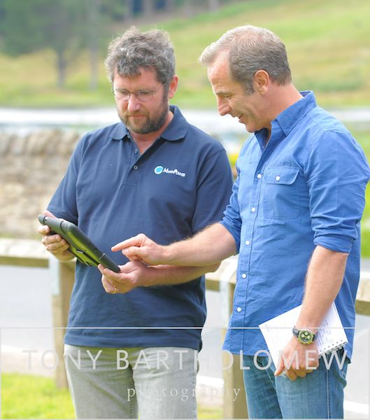Dave Mann of Mannpower Consulting Ltd., and Robson Green