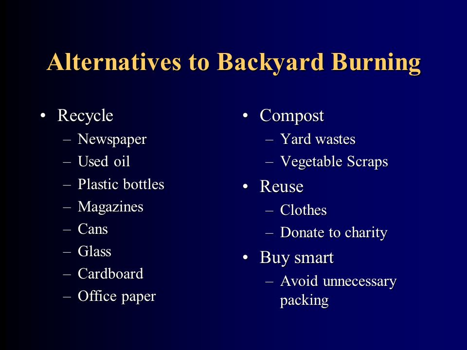 Photo Credit: Backyard Burning  by Theodore W. Marcy,