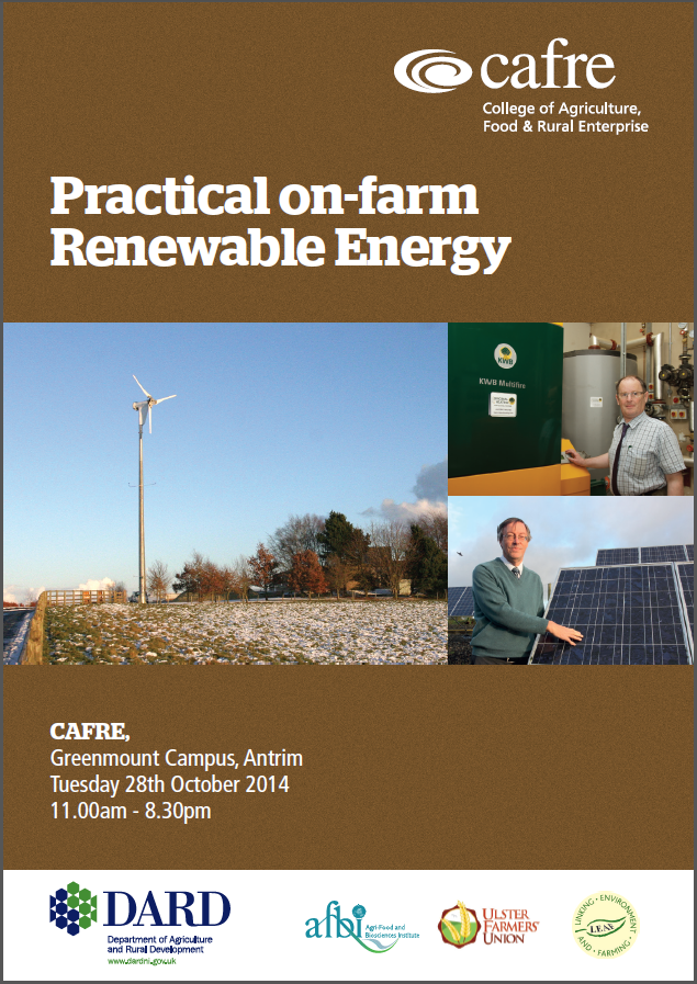 Practical On-farm Renewable Energy event at CAFRE's Enniskillen Campus